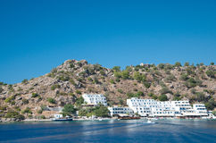 Greek village Loutro Stock Photography