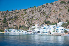 Greek village Loutro Royalty Free Stock Photography