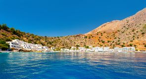 Greek village of Loutro, Chania, Crete. Greek village of Loutro, Chania, Crete, Greece Stock Photos