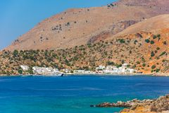 Greek village of Loutro, Chania, Crete. Greek village of Loutro, Chania, Crete, Greece Royalty Free Stock Image