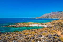 Greek village of Loutro, Chania, Crete. Greek village of Loutro, Chania, Crete, Greece Royalty Free Stock Photo