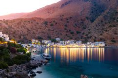 Greek village of Loutro, Chania, Crete. Greek traditional village of Loutro, Chania, Crete, Greece Royalty Free Stock Photo