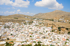 Greek village Stock Image