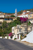 Greek village in the mountains Stock Photography