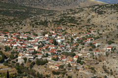 Greek Village Stock Image