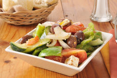 Greek village salad Royalty Free Stock Photo