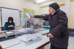 Greek Voters Head To The Polls For The General Election 2015 Stock Image