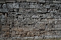 Greek wall Royalty Free Stock Photo