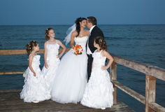Greek wedding. Greek traditional weding by the sea, at Paralia Katerini Stock Photo