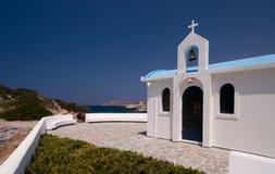 GREEK WHITE CHAPEL Stock Photos