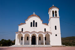 Greek White Church Stock Photos
