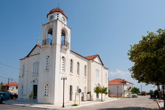 Greek white church Royalty Free Stock Photos