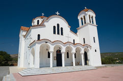 Greek White Church Royalty Free Stock Image
