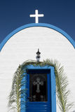 Greek white church  Royalty Free Stock Photography