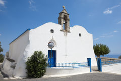 Greek white church in Komitades. Crete. Greece Stock Images