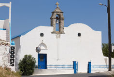 Greek white church in Komitades. Crete. Greece Royalty Free Stock Image