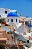 Greek white church in Santorini Stock Photo