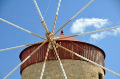 Greek windmill Stock Photo