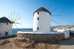 Greek windmill Stock Photos