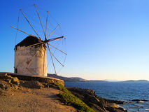 Greek windmill Stock Photography