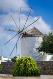 Greek windmill Stock Photos