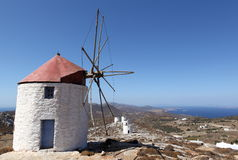 Greek windmill Royalty Free Stock Photography