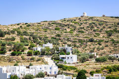 Greek windmill in Paros, Greece Royalty Free Stock Photography