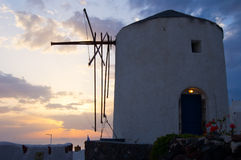 Greek windmill in Santorini Royalty Free Stock Images