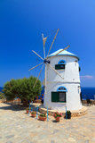 Greek windmill Royalty Free Stock Photos