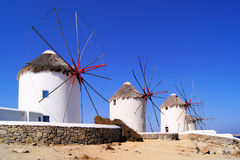 Greek windmills Stock Image