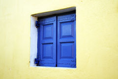 Greek window Stock Image
