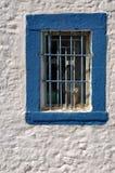 Greek window Stock Photos