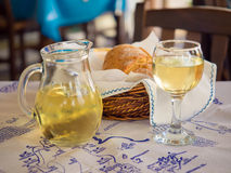 Greek Wine Royalty Free Stock Photography