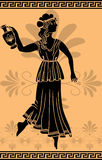Greek woman with amphora stencil. Vector illustration for web Royalty Free Stock Photos