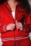 Greek woman gym clothes Stock Image