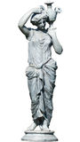 Greek woman statue isolated Stock Images