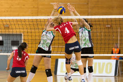 Greek Women Volleyball League game Aias vs Panathinaikos Royalty Free Stock Photography