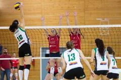 Greek Women Volleyball League game Aias vs Panathinaikos Stock Photo