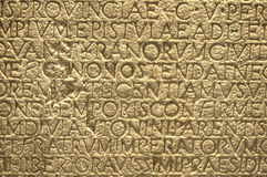 Greek writing text ancient letters on the wall Royalty Free Stock Image