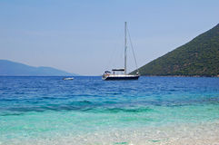 Greek yacht Royalty Free Stock Photo