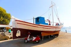 Greek yacht Royalty Free Stock Photo