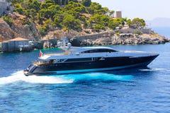 Greek yacht stock image