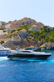 Greek yachts royalty free stock photos