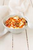 Greek Yoghurt in a Bowl Royalty Free Stock Photo