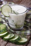 Greek yogurt with cucumber and dill Royalty Free Stock Photo