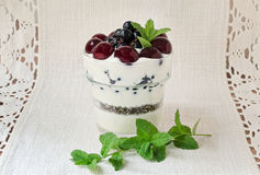 Greek Yogurt Dessert Stock Photos