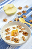 Greek yogurt with honey Stock Image