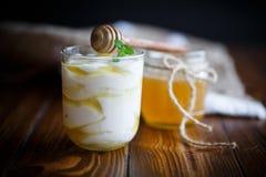 Free Greek Yogurt With Honey Royalty Free Stock Photo - 86659185