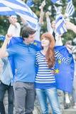 Greeks with European Union flag Royalty Free Stock Photos
