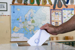 Greeks vote in bailout referendum Royalty Free Stock Image